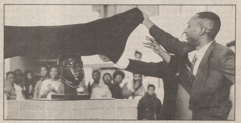 Unveiling the bust of Martin Luther King, Jr.