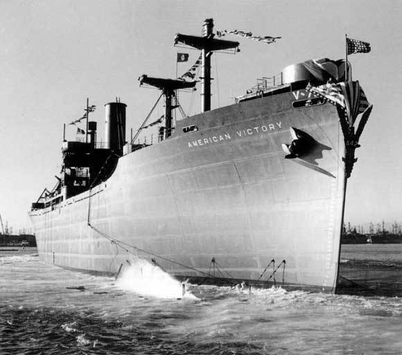 Launching of SS American Victory