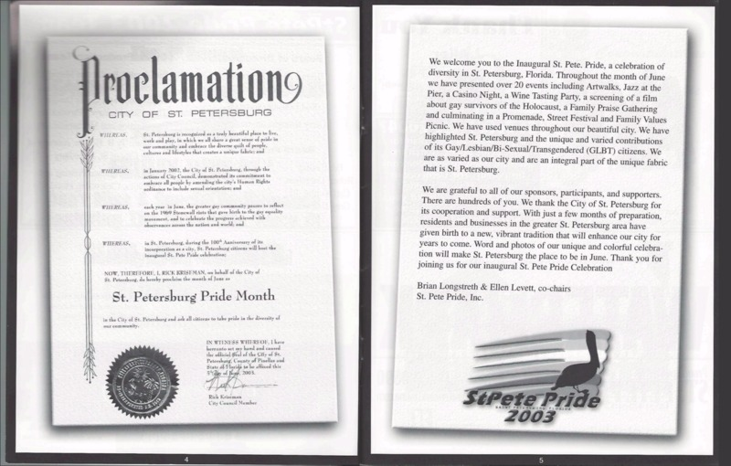 Proclamation of St Petersburg City Council, June 2003.