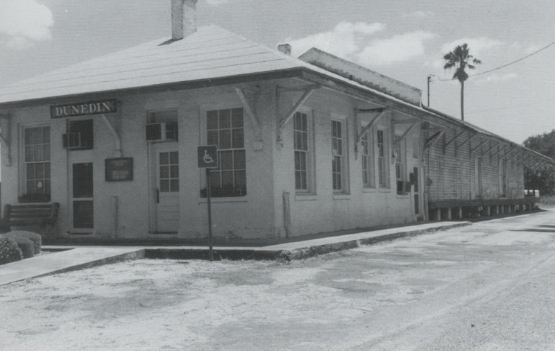 Dunedin's depot after the end of the railroad in 1987