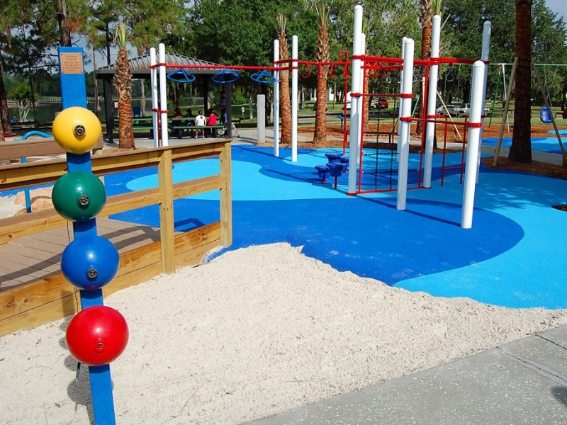 Riverhills Park Playground Accommodates All Children's Needs
