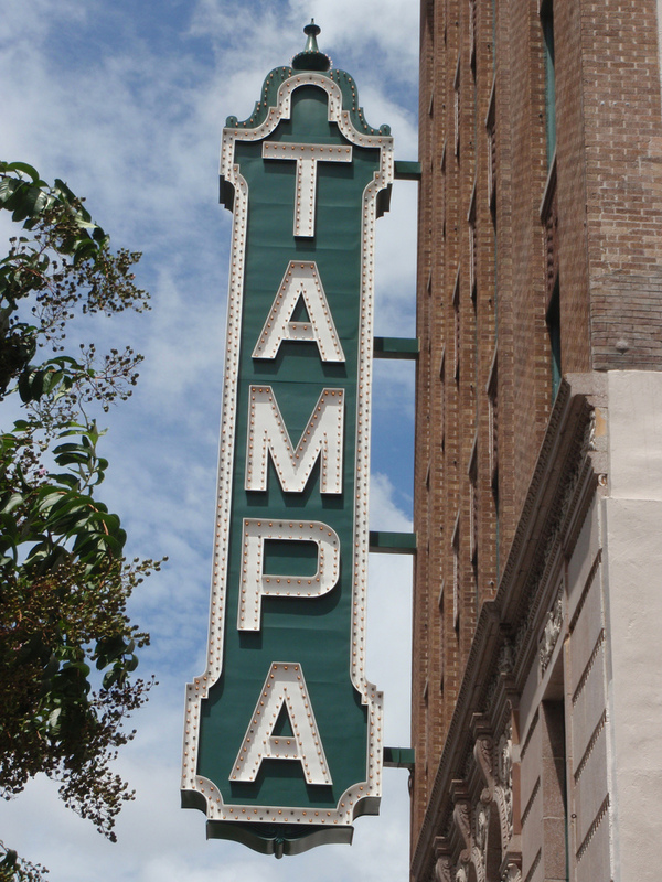 Iconic Tampa Theater sign