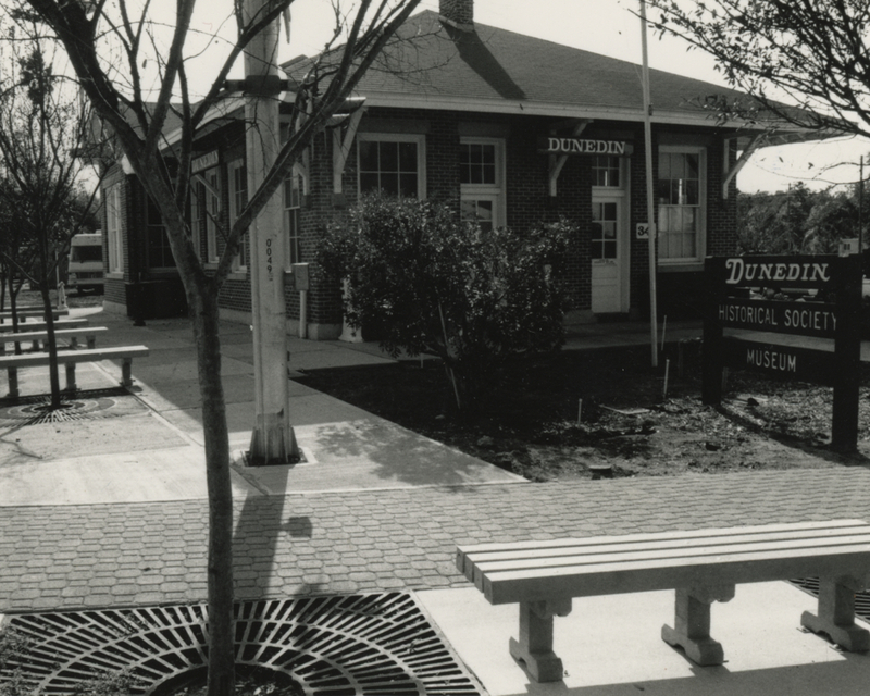 The Dunedin railroad depot's transition into the Dunedin Historical Society's home center in the 1990s