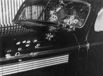 Charlie Wall's Car after Assassination Attempt