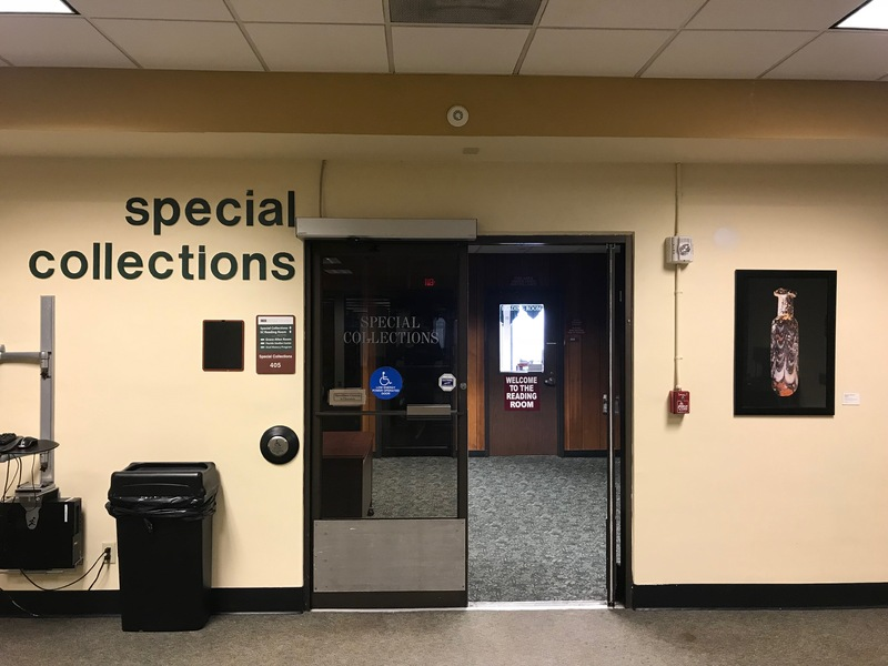 Special Collections entrance, 4th floor USF Tampa Campus Library