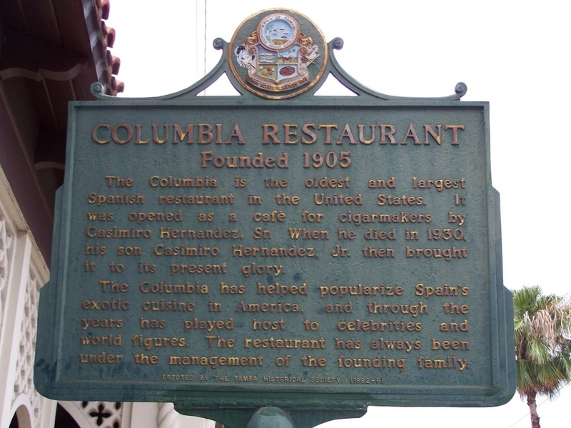 The Columbia's Information Sign