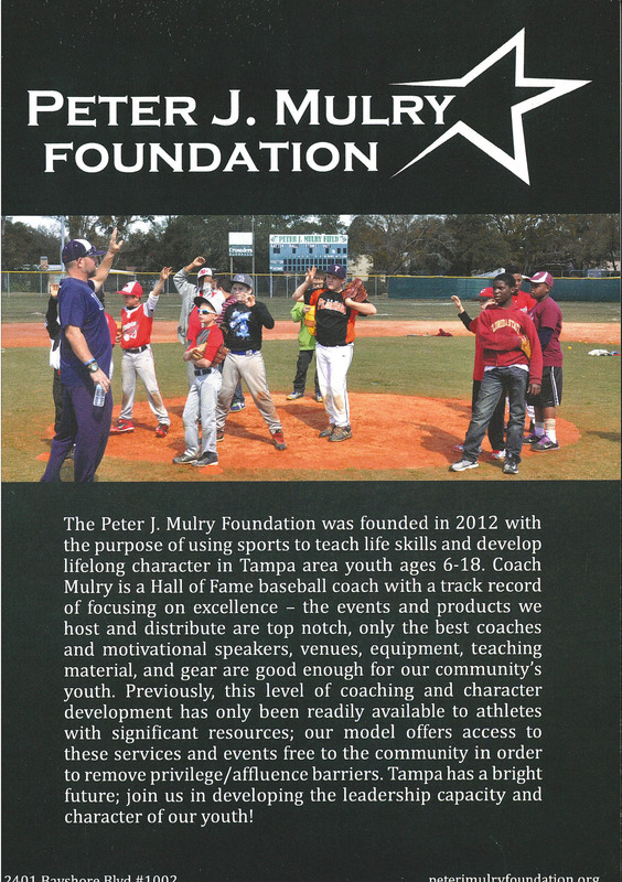 Flyer for the Pete J. Mulry Foundation